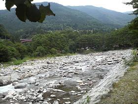 付知峡の川