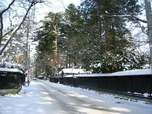 角館雪道1