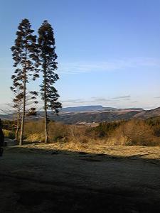 「カフェの前の景色」forest cafe BEAR(小国町)