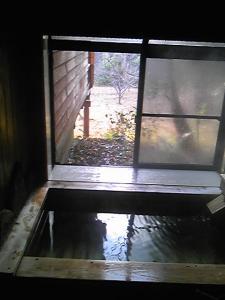 「お部屋の半露天風呂」山荘 紗羅樹(湯布院)