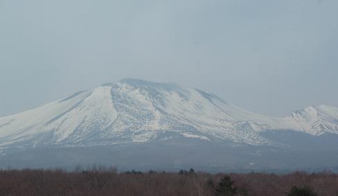 北軽井沢のホテル1130から望む浅間山