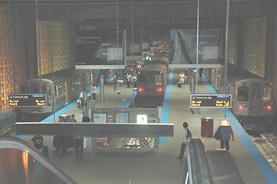 シカゴ ブルーライン オヘア空港駅