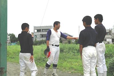 日生 栗山臨時ピッチングコーチ