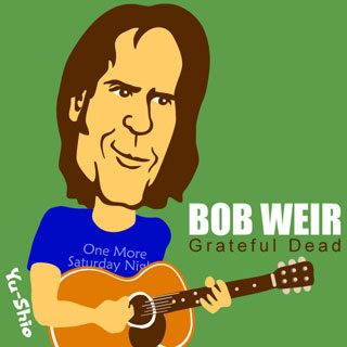 Bob Weir Grateful Dead caricature
