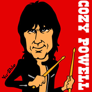 Cozy Powell caricature