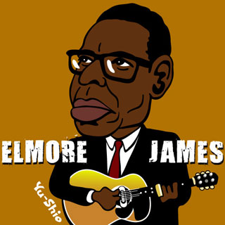 Elmore James caricature