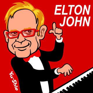 Elton John Caricature