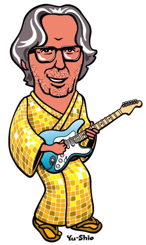Eric Clapton caricature