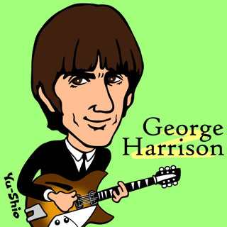 George Harrison Beatles caricature