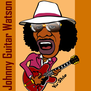 Johnny Guitar Watson caricature