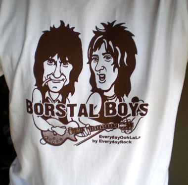 Rod Stewart Ron Wood Faces EverydayRock T Shirt Caricature