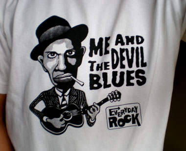 Robert Johnson EverydayRock T Shirt Caricature