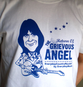 Gram Parsons EverydayRock T Shirt Caricature