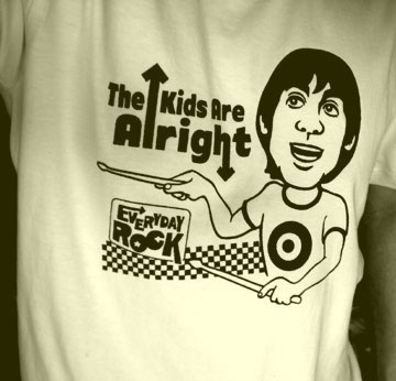 EverydayRock T Shirt Keith Moon The Who Caricature