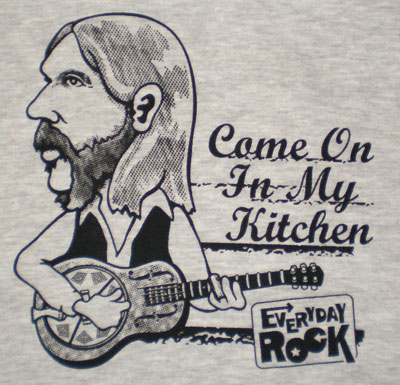 Duane Allman EverydayRock T Shirt Caricature