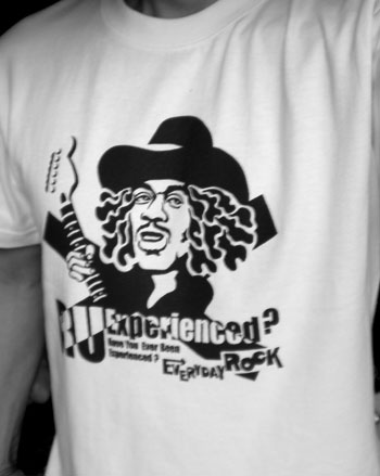 Jimi Hendrix EverydayRock T Shirt Caricature