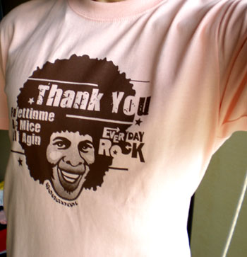 EverydayRock T Shirt Sly Stone Caricature