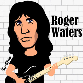 Roger Waters Pink Floyd caricature