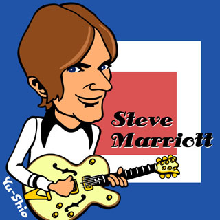Steve Marriott Small Faces caricature