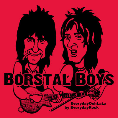 Ron Wood Rod Stewart Faces  EverydayRock T Shirt