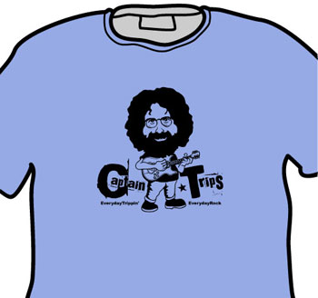 EverydayRock T Shirt Jerry Garcia Caricature