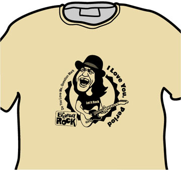 EverydayRock T Shirt Dan Baird Caricature