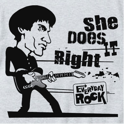 EverydayRock T Shirt Wilko Johnson Caricature