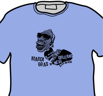 Professor Longhair EverydayRock T Shirt Caricature