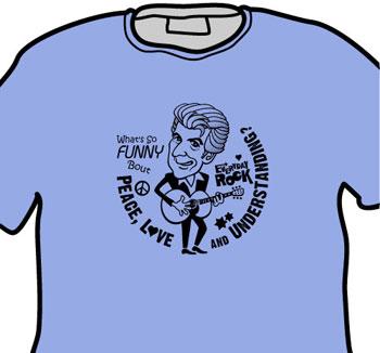 Nick Lowe EverydayRock T Shirt Caricature