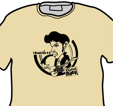Prince EverydayRock T Shirt Caricature