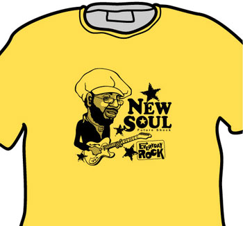 Curtis Mayfield EverydayRock T Shirt Caricature