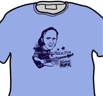 Stephen Stills EverydayRock T Shirt Caricature