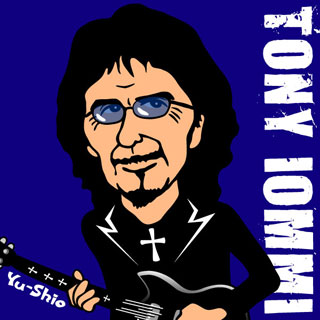 Tony Iommi Black Sabbath caricature