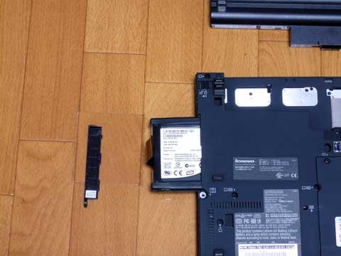 X61sにSSD組み込み