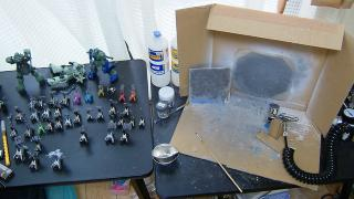 リゼル塗装開始