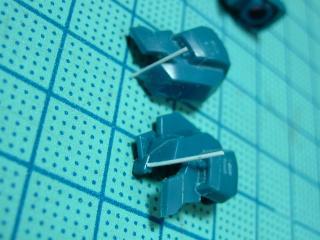 リゼルのバイザーに0.3mmプラ板
