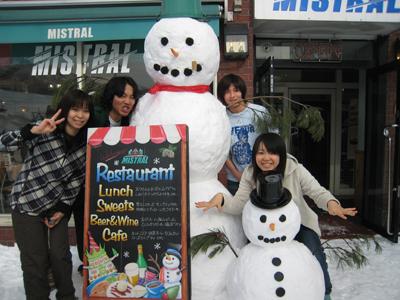 雪だるま玄関jpg