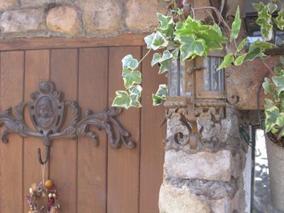 妖精のアイアンのドア飾り