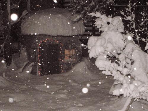 雪降る夜の妖精の家