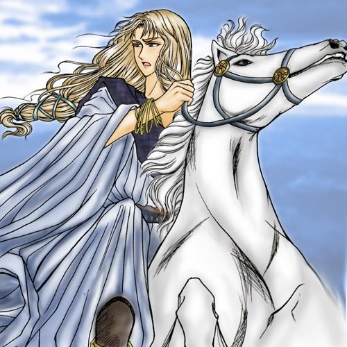 白馬の王子!