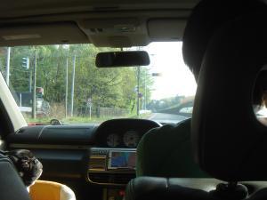 パパとドライブでち