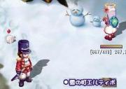 イケメン兵士と雪だるま