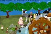動物とリンゴ園