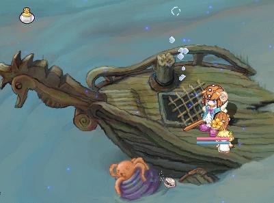難破船(ゴーストブルー入り口)