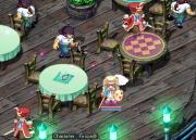 甲板のテーブル