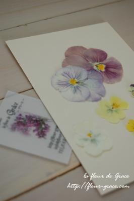 押し花とショップカード