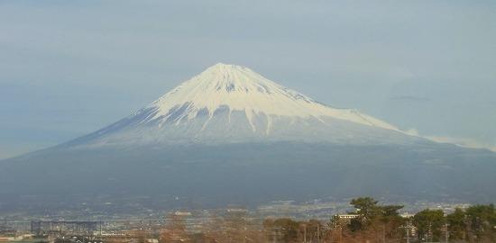 車窓から富士山を