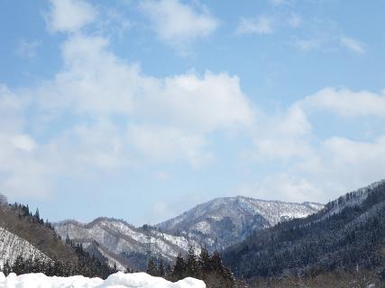 阿仁の山と空