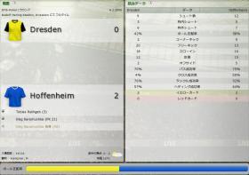 Dresden 対 Hoffenheim