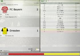 FC Bayern 対 Dresden (分割画面)